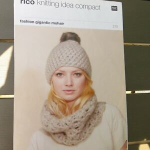 9e635d4c9 Rico Knitting Pattern Idea Compact 210 - Hat Loop Headband Scarf