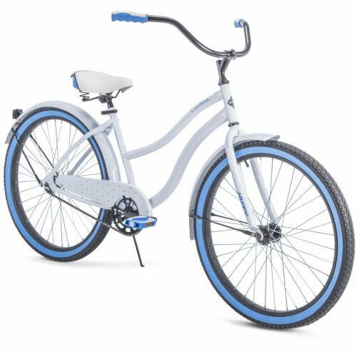"""Huffy 26/"""" Cranbrook Womens Cruiser Bike with Perfect Fit Frame Fun Ride! White"""