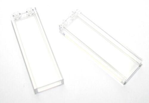 2x LEGO® Stein 1x2x5 Säule Fenster Glas 46212 NEU Transparent klar