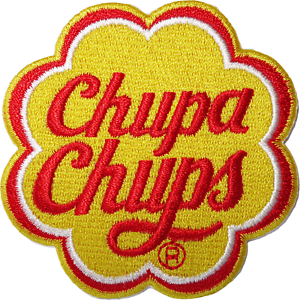 Chupa Chups Patch Iron On Sew On Embroidered Badge Lollipop Lollies Retro Sweets