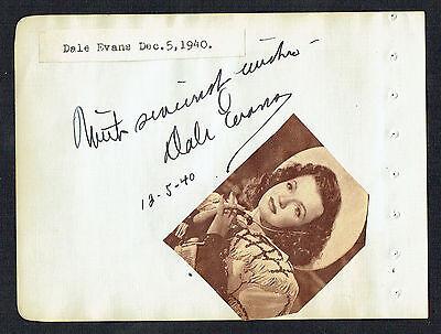 Motiviert Dale Evans Unterzeichnet Autogramm 4x5 Album d.1995 d.2001 & Nancy Kelly