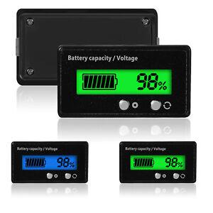 LCD-12V-24V-36V-48V-Blei-Saure-Batterie-Status-Voltmeter-Monitor-Meter-Auto-KFZ