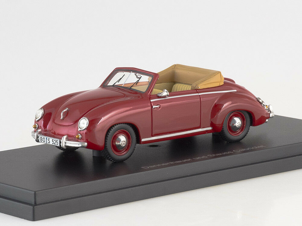 Scale model 1 43 VW Dannenhauer and Stauss Congreenible, dark red