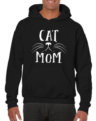 Cat Mom Feline Lover Kitty Kitten Adopt Rescue Pet Men/'s Hooded Sweatshirt