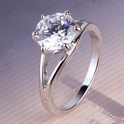 Luxury design ring ! Lady 18k white gold filled  Swarovski Crystal ring  Sz5-Sz9