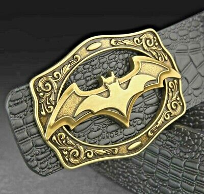 BAT MENS DESIGNER BELTS FOR MEN REVERSIBLE 38 MM BATMAN CROC LEATHER BELT JEANS | eBay