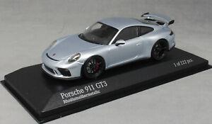 Minichamps-PORSCHE-911-991-GT3-in-GT-argento-metallico-413066034-1-43-NUOVI-Ltd-222