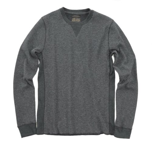 NWT$49 Charcoal Gray Long-Sleeve Strong Boy Thermal Tee Lucky Brand Men/'s L