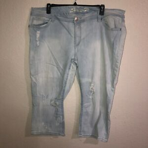Para Mujeres Jeans Seven 7 Recortada Envejecido Talla Grande 24w Ebay