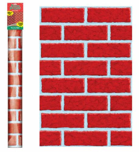 PONT les murs Rouge Mur De Briques géant chambre Rouleau Décoration Décoration de Noël