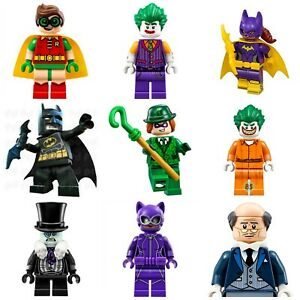 DC Lego Batman & Custom Robin Movie Super Hero Mini Figures Riddler Penguin
