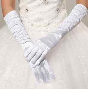 Accessoire-mariage-Gants-longueur-coude-satin-blanc-legerement-fronce