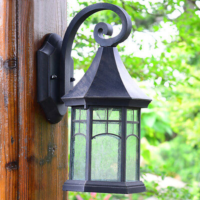 Euro Retro Candelabro De Pared Patio/chalet Luces Impermeable Exterior