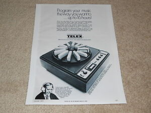 Telex-48H-48D-12-Tape-8-Track-Changer-Ad-1-pg-1973-Very-Rare