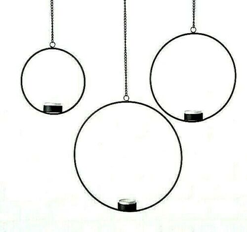 3 x Boltze lumignons Support Remorque Fensterdeko Fer Noir 16//21//26 cm