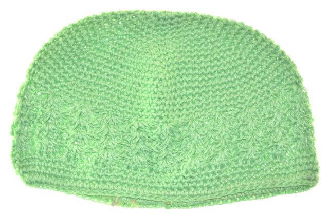 b40c5f6c486b5 Kufi Hat Crochet Cap Beanie-neon Lime Green