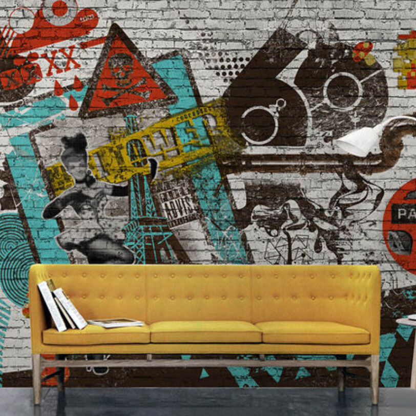3D Mottled graffiti 1A WallPaper Murals Wall Print Decal Wall Deco AJ WALLPAPER