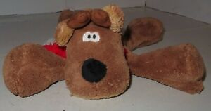 Hallmark-Rodney-the-Reindeer-Plush-with-Red-White-Scarf-6-1-2-034-Long-Used-Nice