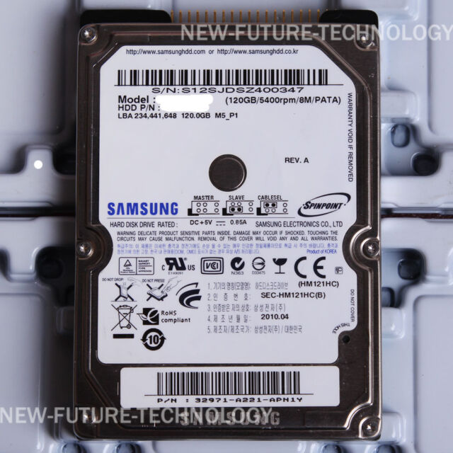 "SAMSUNG 120 GB 2.5"" 5400 RPM IDE HDD HM121HC Hard Disk Drives For Laptop"