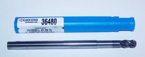 "36480 KYOCERA SGS 4 FLUTE Z-CARB ENDMILL  LONG REACH .2500/"" BALL END 1//4/"""