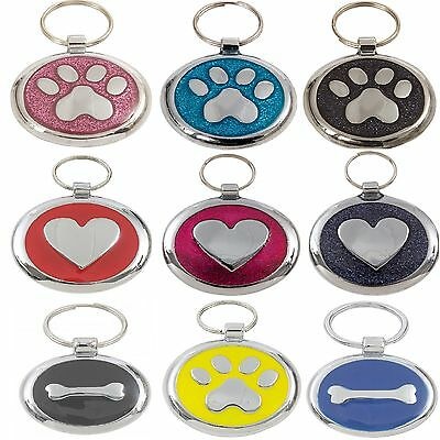 Premium Engraved Pet Tags DOG ID Disc Disk 25&32mm High Quality Puppy Cat Kitten