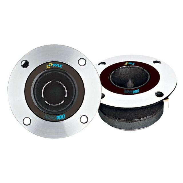 ROCKRIX 1-Inch 200 Watt Max Neodymium Super Bullet Tweeters Built in Crossover 1 PCS Aluminum Frame and Titanium Diaphragm Pro Tweeters -