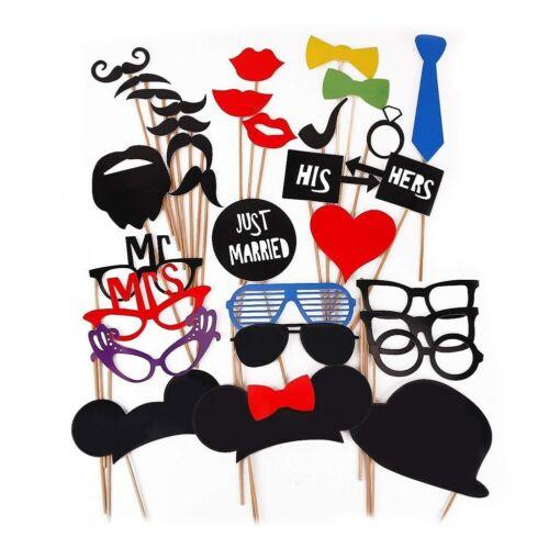 1set 31pcs Funny Photo Booth Props Christmas Graduation Party Mask DIY Photo