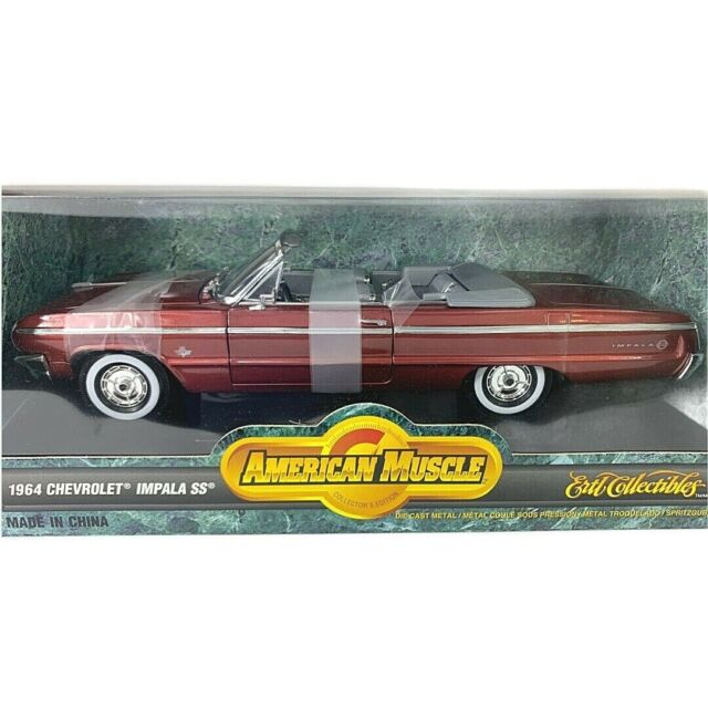 #7837 American Muscle Red 1964 Chevrolet Impala SS Convertible Die Cast 1:18