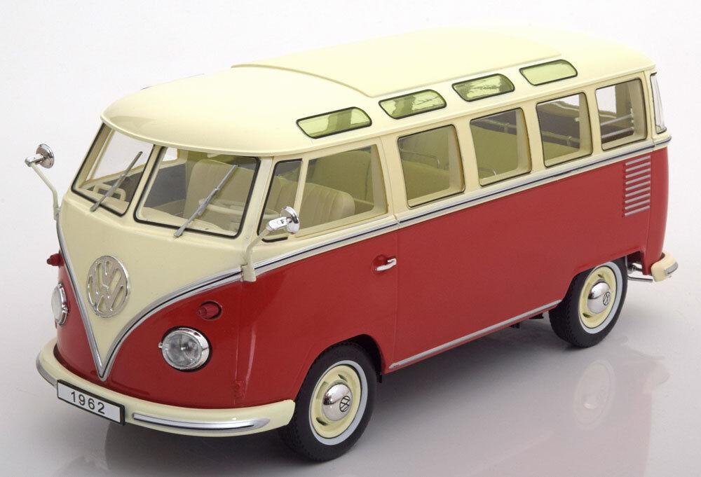 KK SCALE MODELS 1962 Volkswagen Bulli T1 Samba Red Creme LE of 750 1 18 In Stock