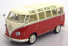 KK SCALE MODELS 1962 Volkswagen Bulli T1 Samba Red/Creme LE of 750 1/18 In Stock
