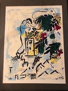 Rare-Serigraph-with-COA1954-Marc-Chagall-Venice-Cite-Des-Arts-et-Des-Fleurs