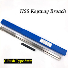Hss Metric Keyway Broach 5mm C Push Type Cnc Machining Cutting Tool Amp Shim Cnc