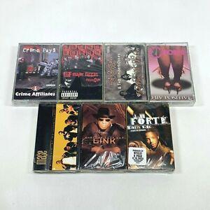 Lot of 7 Cassette Tapes 90s Rap Hip Hop Major Figgas CCA Mase John Forte *SEALED