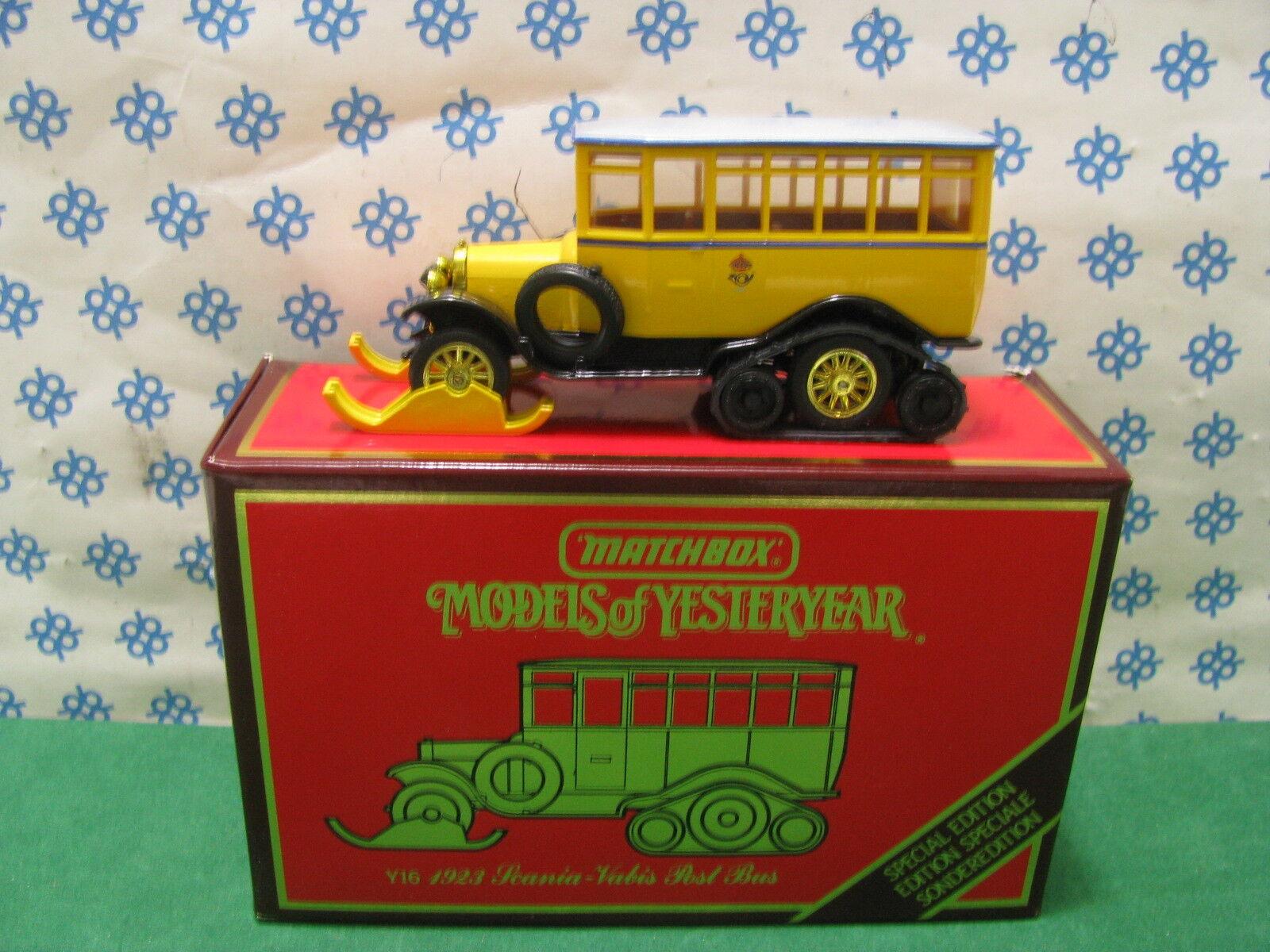 Vintage - Scania - Vabis Post Bus 1923 - Matchbox Y 16 Mint Boîte