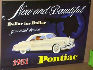 Pontiac Car Old Indian Head Advertisement Beautiful Sign