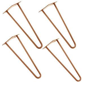 en-casa-Set-4x-Hairpin-Leg-Patas-de-horquilla-pies-de-mesa-muebles-40cm-Cobre