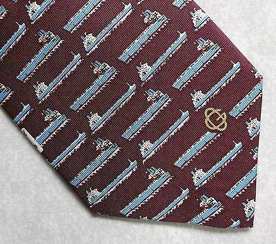 Amichevole Vintage Tie Cravatta Da Uomo Retrò 1990s Golden Ocean Gruppo Commemorativo Di Seta-mostra Il Titolo Originale