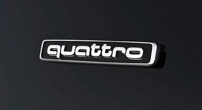 New Audi Quattro Metal Badge Rear Boot Emblem S Line A 1 2 3 4 5 6 7 8 Q RS S