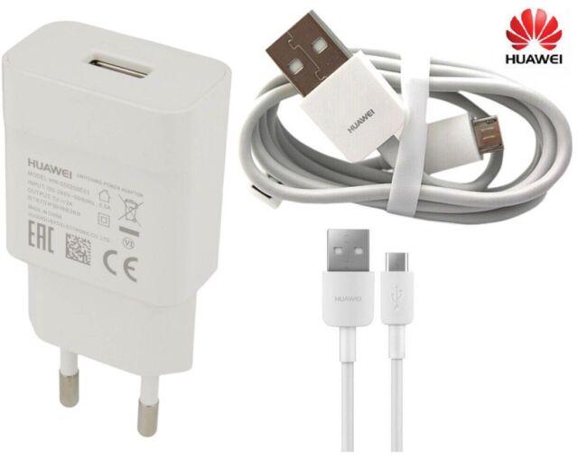 Original Huawei 2A Ladegerät & Micro USB Kabel für Y5 Y6 Y7 Y9 2018 P8 P9 lite