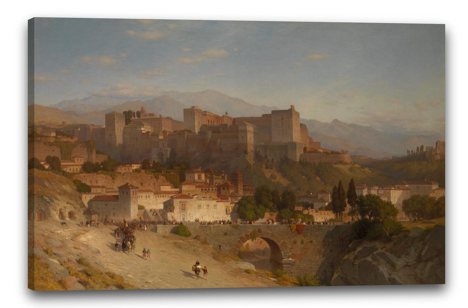 Kunstdruck Samuel Colman - Der Hügel der Alhambra, Granada