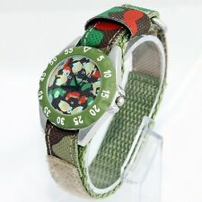 Popular Fabric Strap Kids Frist Watch Boy Girl Learn To Time Wrist Watch U32GM