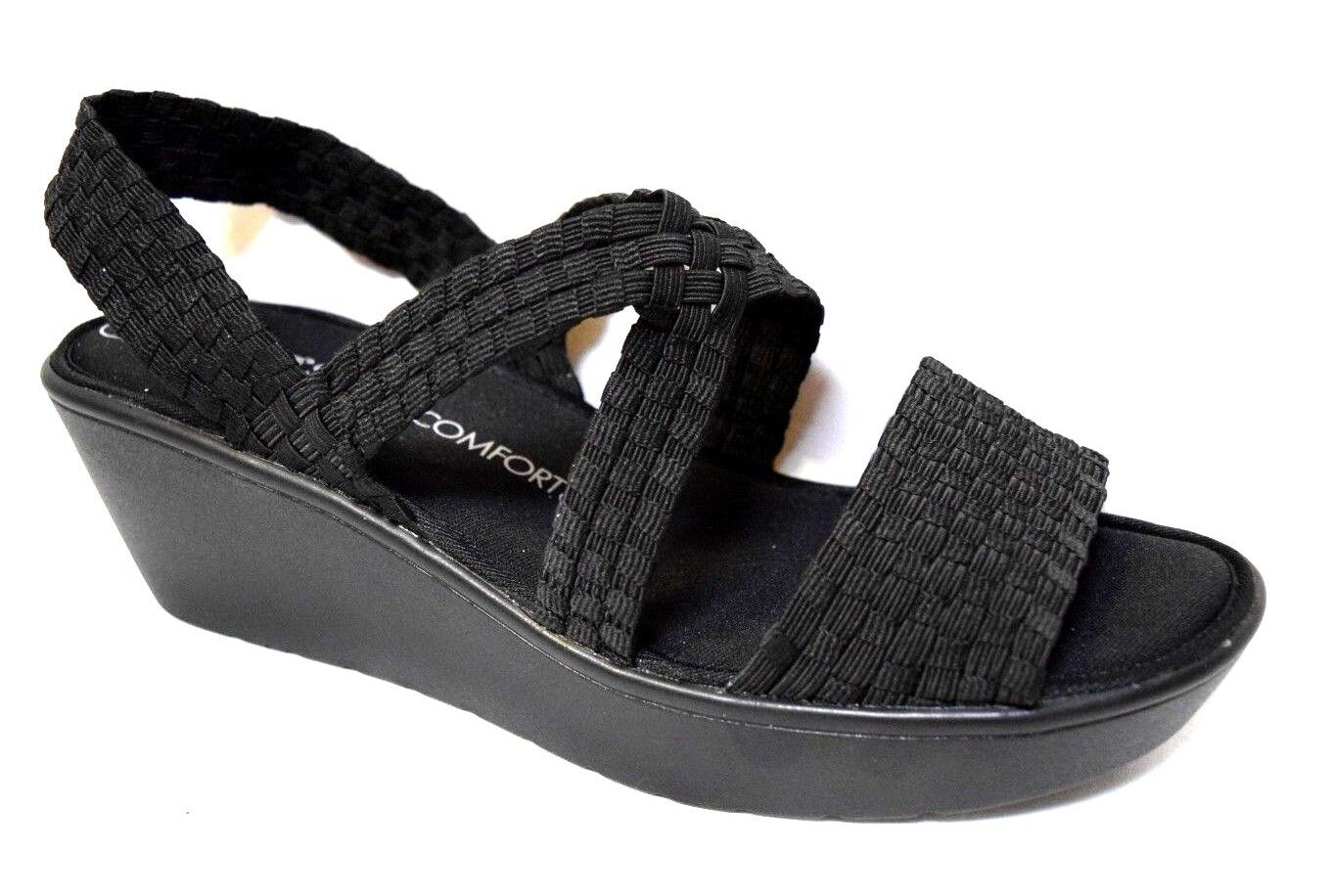 TS shoes TAKING SHAPE sz 9   40 Olympia Wedge super-comfy black wide NIB rp 120