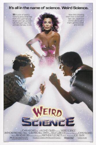 Weird Science Kelly LeBrock 1985 Portrait Canvas Art Movie Poster Print 80s Film