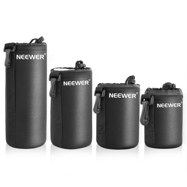 Neewer 4 Size DSLR Camera Drawstring Lens Pouch Bag Cover size S M L XL MT@9