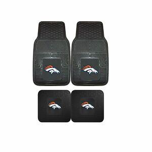 Denver-Broncos-NFL-2pc-and-4pc-Mat-Sets-Heavy-Duty-Cars-Trucks-SUVs