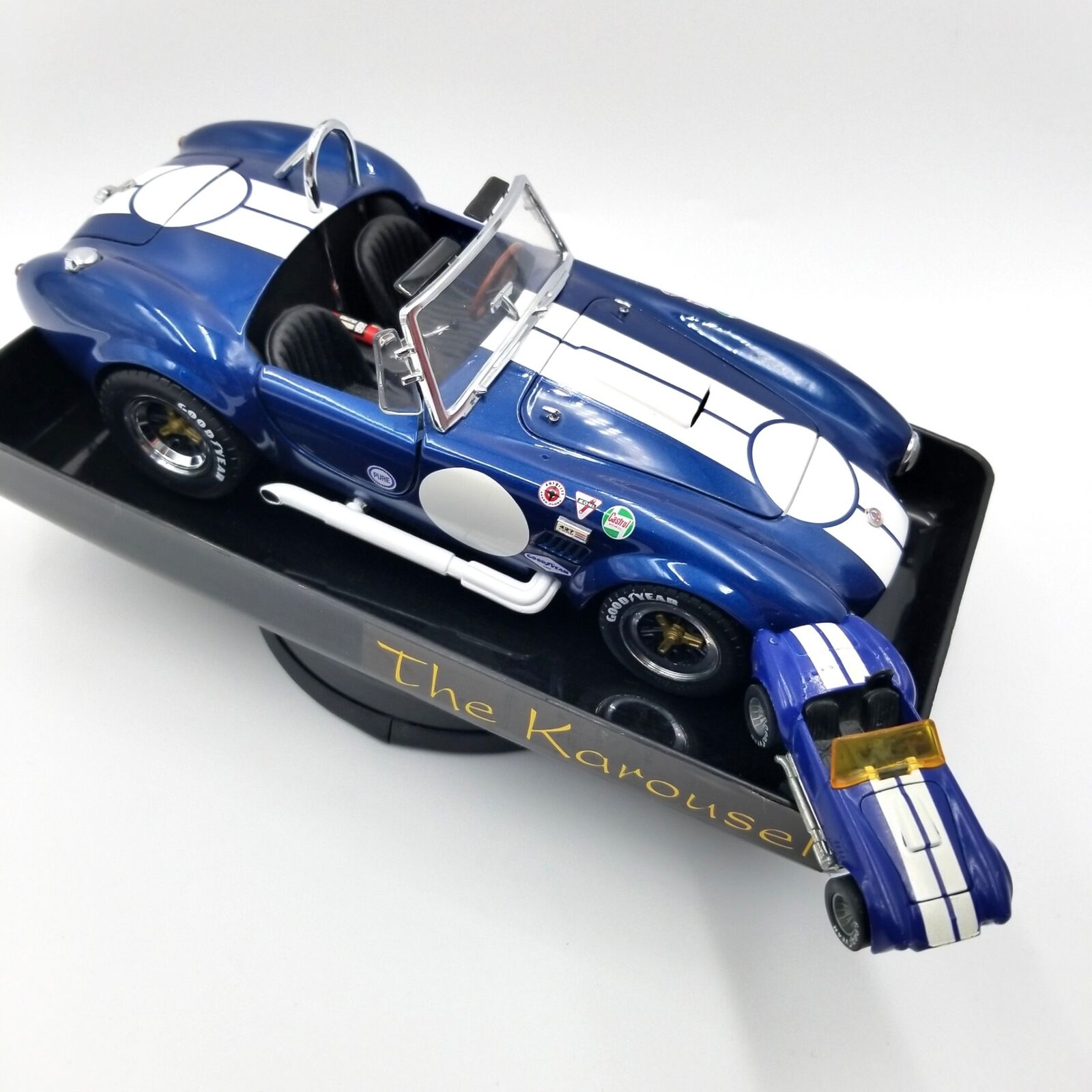 Kyosho Shelby Cobra 427 bleu 1 18 KAROUSEL voiture plateau tournant HOT WHEELS 1 64 Lot 3