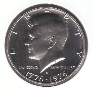 United States Kennedy Half Dollar 1976 S CopperNickel Clad Copper Proof Coin - <span itemprop=availableAtOrFrom>Dukinfield, Cheshire, United Kingdom</span> - United States Kennedy Half Dollar 1976 S CopperNickel Clad Copper Proof Coin - Dukinfield, Cheshire, United Kingdom