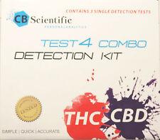 CBD & THC Test Kit for Cannabis Marijuana potency  COMBO 3 TEST EACH