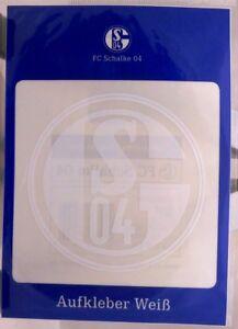 Aufkleber-Auto-FC-SCHALKE-04-Weiss-NEU-Kratzfest-Waschanlagensicher