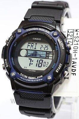 W-S210H-1A Casio Watch Tough Solar Tide graph Moon Phase Digital WS-210H-1A